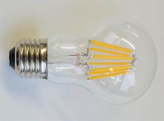 LED Filament A60 8 watt dimmable bulb