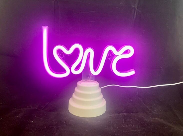 Neon Night Light | Love