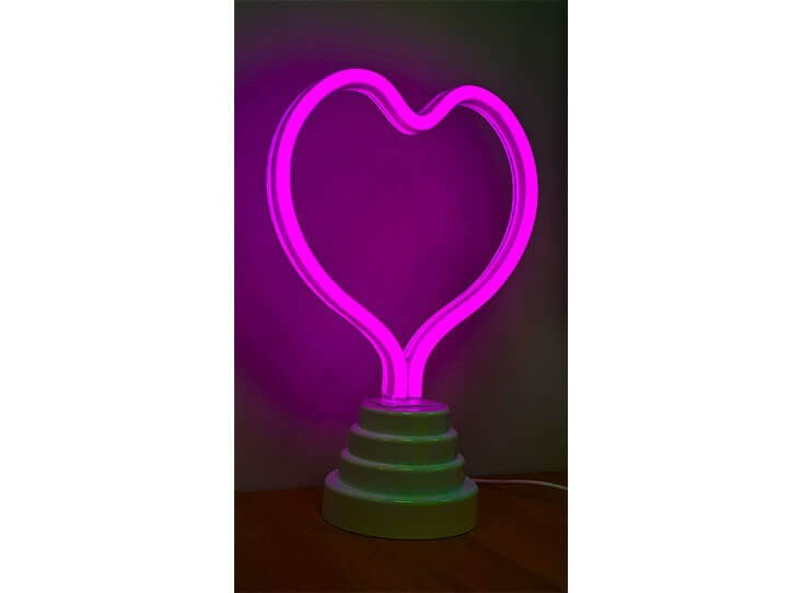 Neon Night Light | Heart Pink